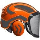 Forstschuthelm Protos® Integral Forest orange-grau...